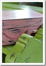 patine vert et rose - barbatrucetrecup