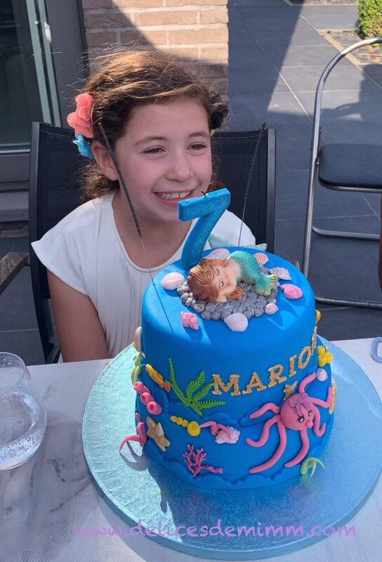 Gâteau petite sirène 9