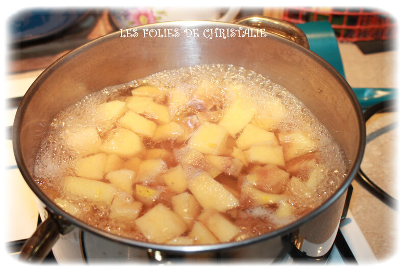 Crumble pommes bananes coings 3