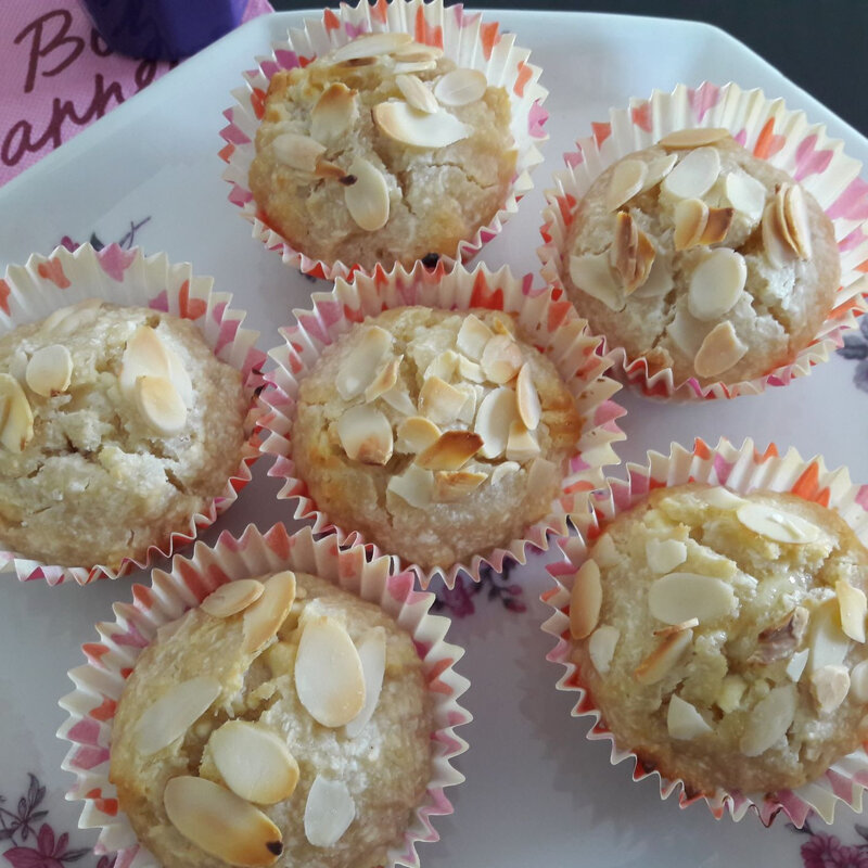 muffins tout blancs!