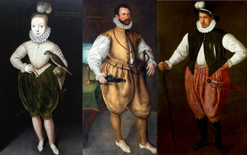 Chausses anglaises vers 1575-1580