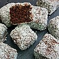 Lamingtons double chocolat
