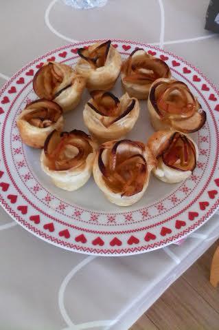 roses de pommes feuilletées