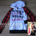 Abbey Dawn Plaid Logo Hoodie