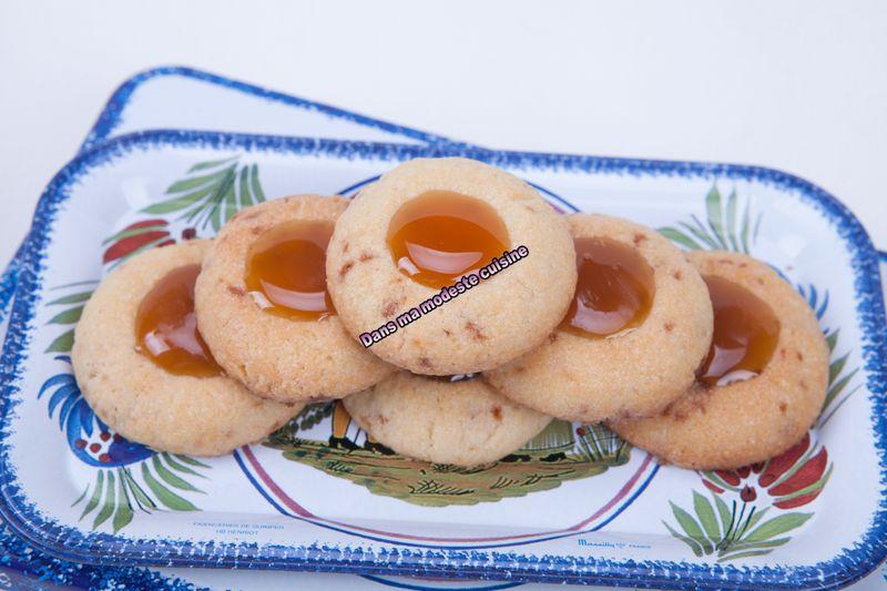 Thumbprint Cookies aux éclats de caramel