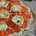 Tarte aux flocons d'avoine {carotte, chèvre, noisettes & sirop d'érable}
