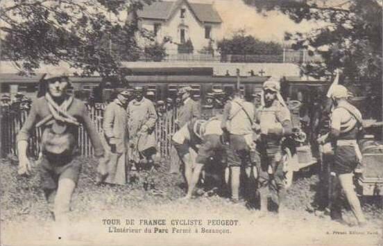 CPA Tour de France Peugeot Wolber 191X Besançon