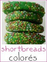 shortbreads version colorée verte - index