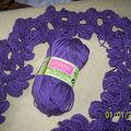 écharpe feuilles crochet 3,5