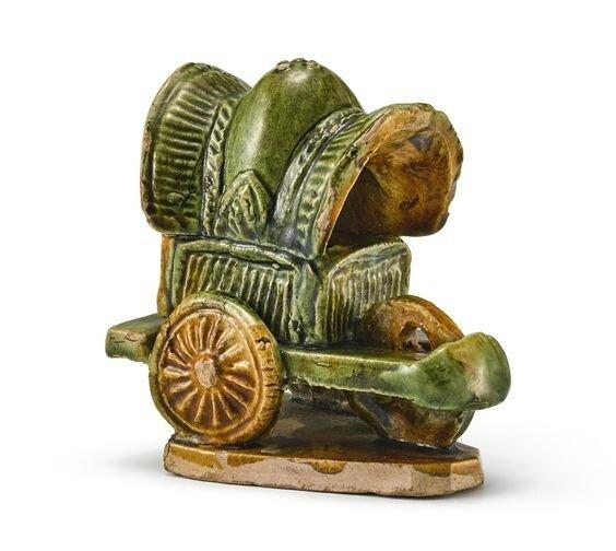 A sancai carriage, Tang dynasty