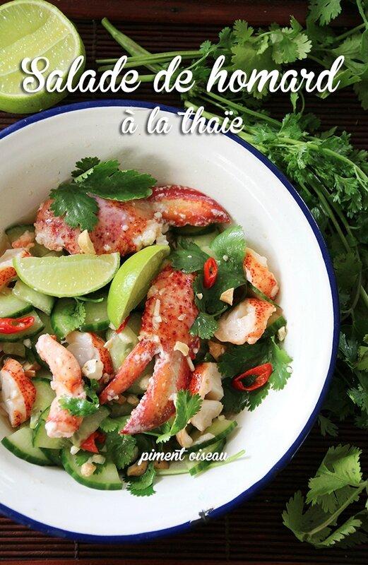 salade de homard à la thaïe-Thai lobster salad