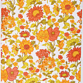 Déco vintage ... papier peint gépé * flowers