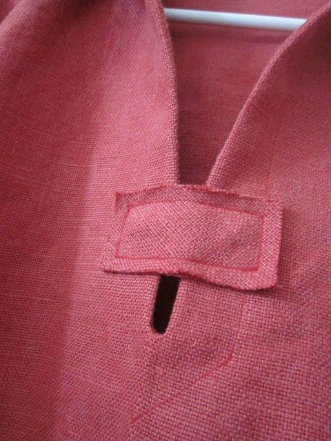 vareuse mixte en lin rouge