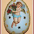 Oeuf Pâques décoré serviettage 2