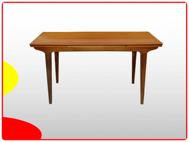 Table design scandinave teck 1960