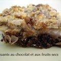 Croquants au chocolat et aux fruit sec