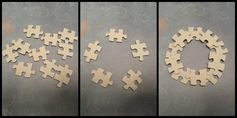 décoration de Noël en puzzle Cam&Drey bricolent