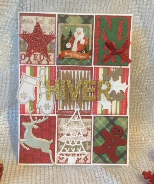 "Carte ""Hiver"" version rouge"