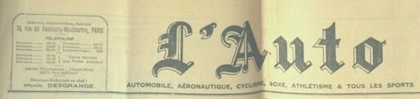 Bandeau L'Auto 1937