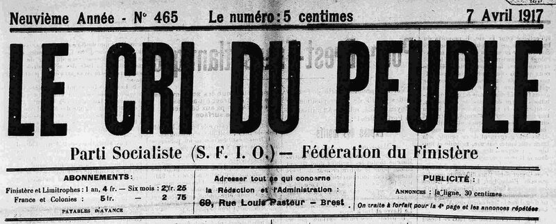Cri du Peuple Finistère