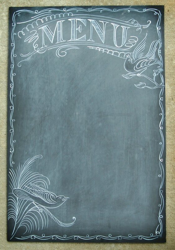 Use-chalkboard-menu-your-reception-instead-traditional-table