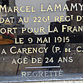 Lamamy marcel (ardentes) + 12/05/1915 carency (62)