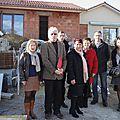 Saint-gence : visite des représentant de la caf et des élus sur le chantier d'extension du multi accueil