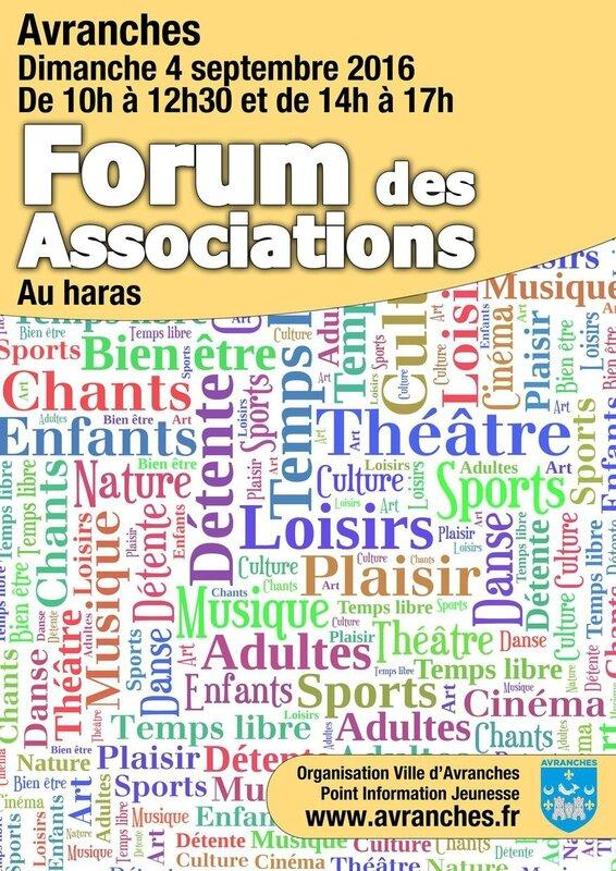 forum des associations 2016 Avranches sport loisirs culture haras salle Fenouillère septembre