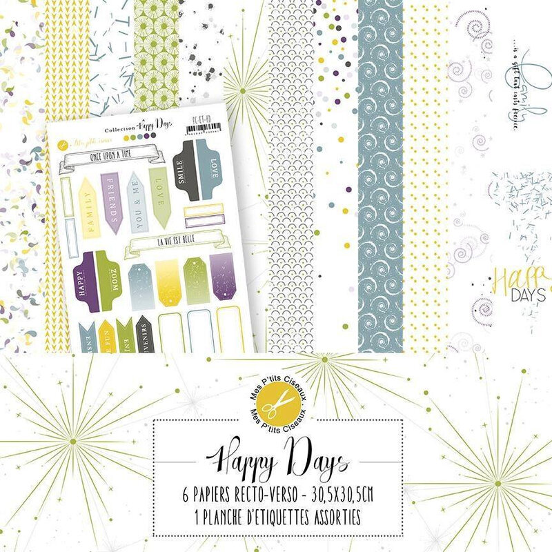 Collection-papiers-scrap-mes p'tits ciseaux-happy days
