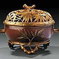 Edouard lièvre(1829 - 1886) pour la maison christofle circa 1877. cache-pot « bambou ».