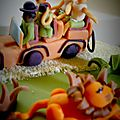 Gâteau décoration thème safari photo