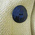Manteau d'été bicolore en lin jaune et marine (6)