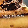 Gâteau choco-orange passion