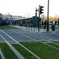 Les 4 trams au croisement des lignes A & C 'Porte de Bourgogne
