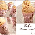 Muffins pommes, cannelle