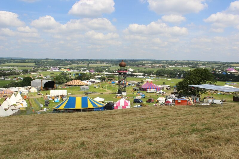 Glastonbury festival 2014 Pilton Park Stage before openning gates