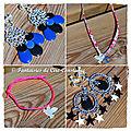 BO Lady S noir bleu roi Cassiopee noir blanc bracelet colombe nacre collier colombe croix Wiltshire