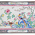 A massive and rare famille rose painted enamel tray, qianlong period (1736-1795)