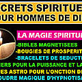 magie pour les hommes de dieu