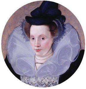 Portrait d'une dame en 1592 par Peake