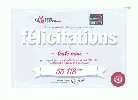 2013 02 diplôme toute mini Vendée globe