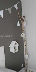 DIY une lampe avec une branche de bouleau - Stéphanie bricole