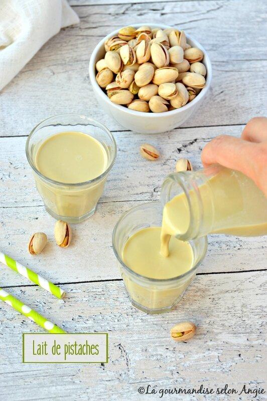 lait végétal pistache maison