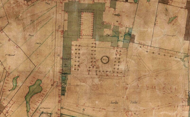 cadastre 1880 Jardin public