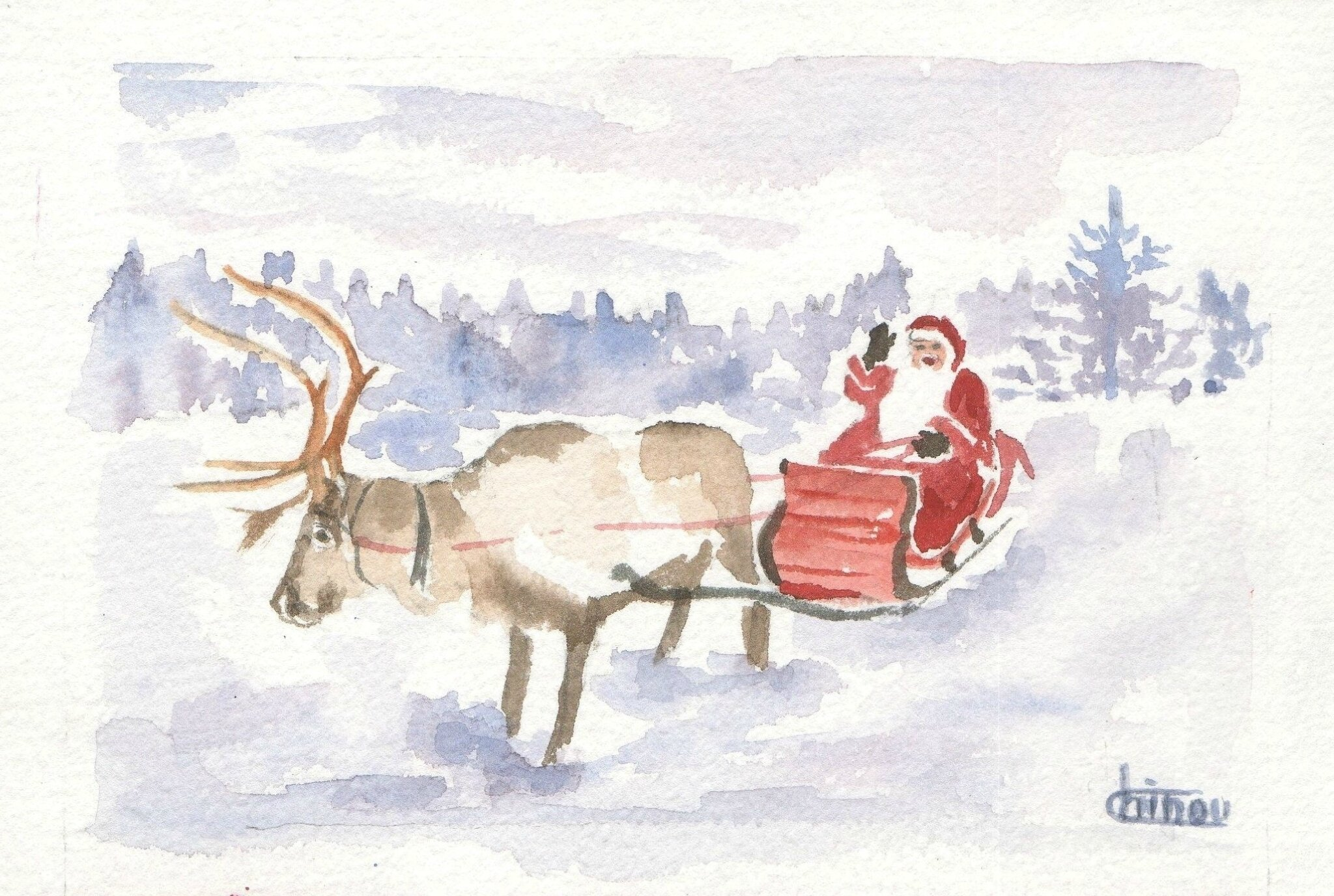 Traineau Noël