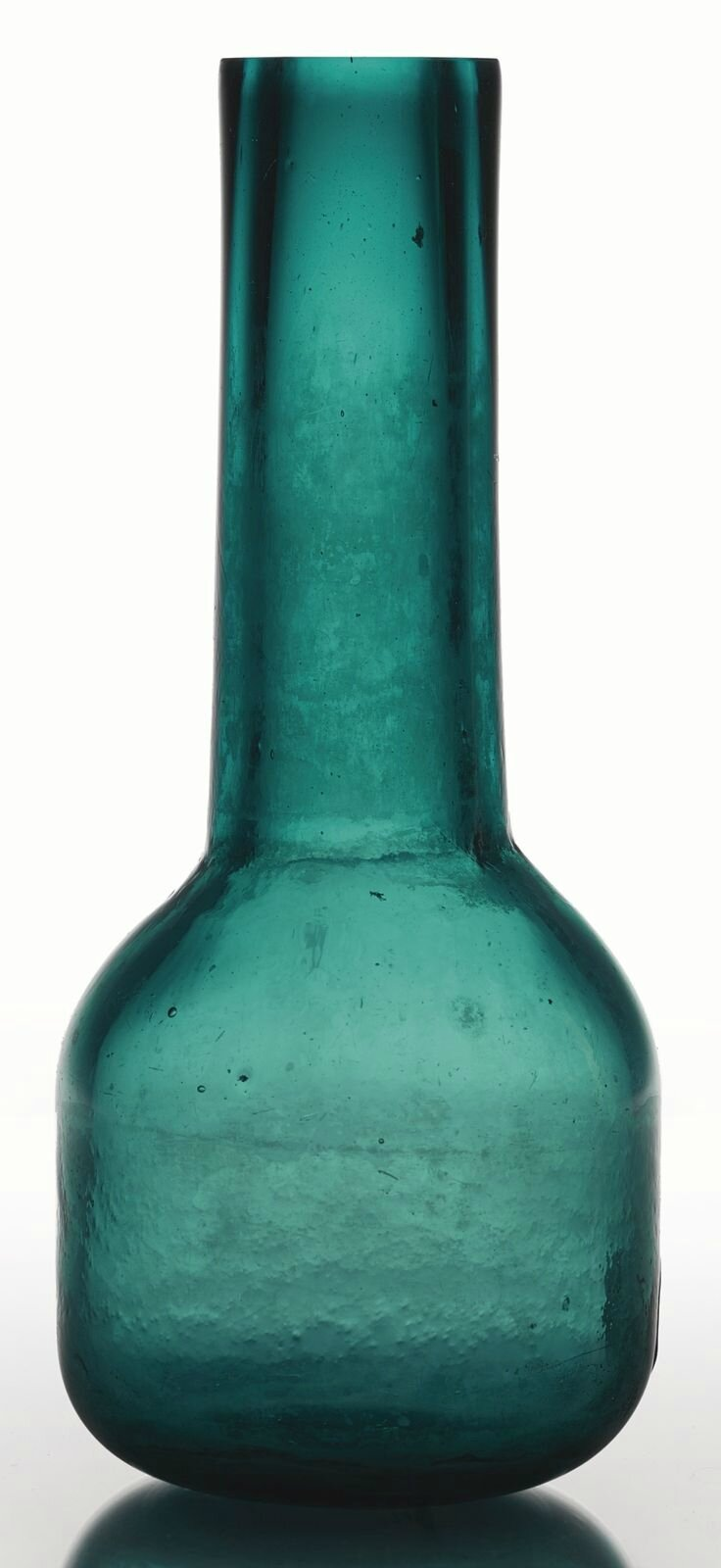 A transparent turquoise-green glass vase, Guangxu mark and period