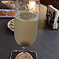 Cocktail champagne cerise et gin