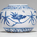 A blue and white chenghua-style jar, late 15th-early 16th century