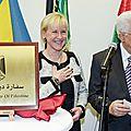 Suède : la palestine ouvre sa première ambassade en europe occidentale