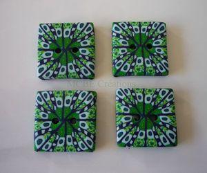 Boutons-carrés-kaléidoscopes-verts-pwld
